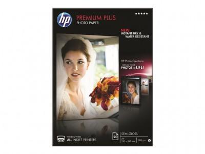 HP Premium Plus Semi-gloss Foto Papier weiss 300g/m2 A4 20 Blatt 1er-Pack