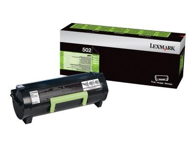 LEXMARK 502 Toner schwarz Standardkapazität 1.500 Seiten 1er-Pack return program