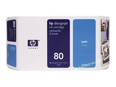 HP 80 Original Tinte cyan Standardkapazität 175ml 1er-Pack