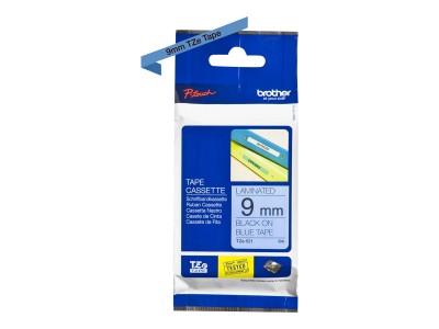 BROTHER P-Touch TZE-521 schwarz auf blau 9mm
