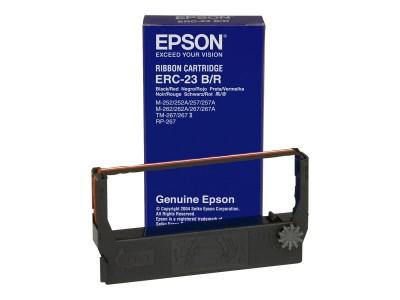 EPSON ERC23BR Farbband schwarz und rot