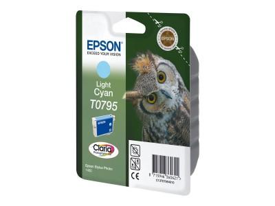 EPSON T0795 Tinte hell cyan Standardkapazität 11ml 1-pack blister ohne Alarm