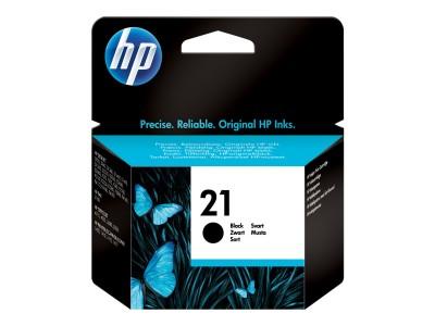 HP 21 Original Tinte schwarz Standardkapazität 5ml 190 Seiten 1-pack Blister multi tag